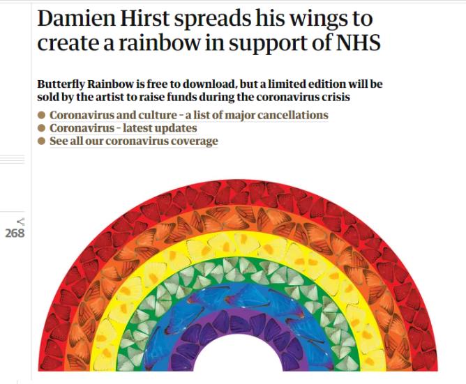 damien hirst butterfly rainbow2