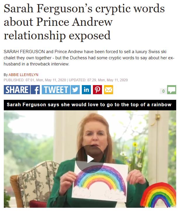 sarah ferguson rainbow