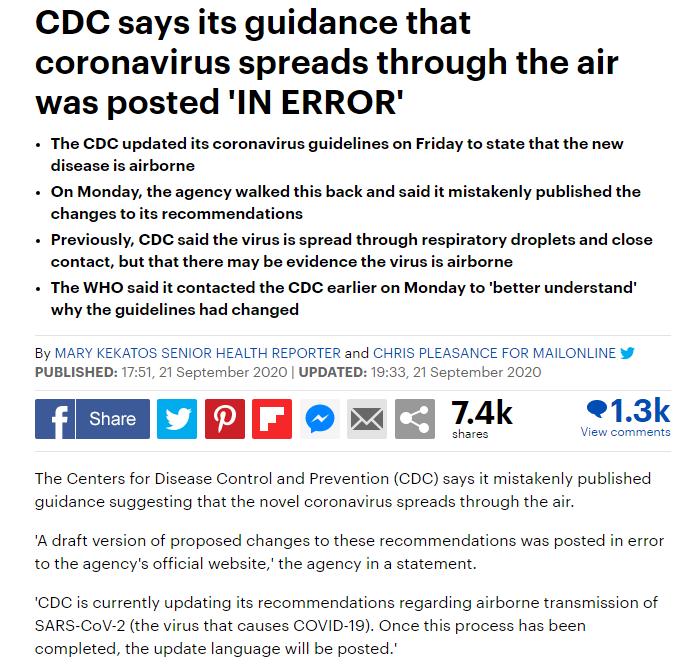 CDC virus not through the air 1