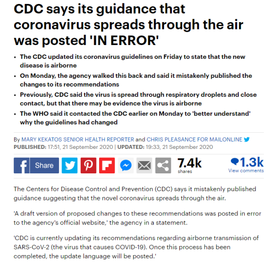 CDC virus not through the air 1