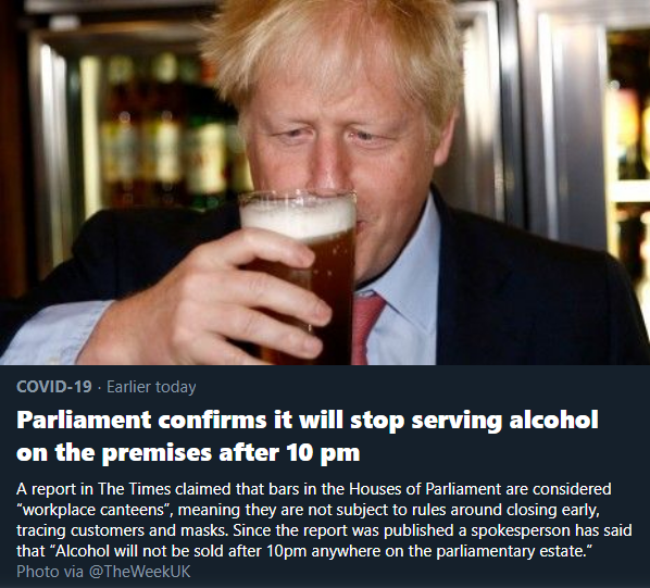 Parliament confirms it will stop serving alcohol